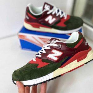 Кроссовки New Balance 530 зеленые с красным