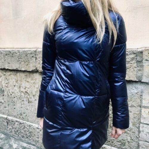 Женская длинная куртка синяя