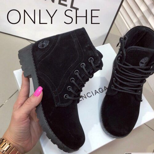Высокие женские ботинки в стиле Тимберлэнд