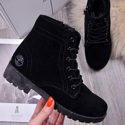 Женские высокие зимние ботинки с искусственным мехом