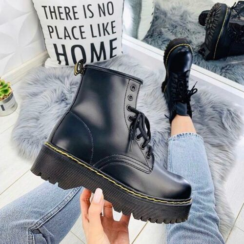 Женские зимние ботинки Доктор Мартенс