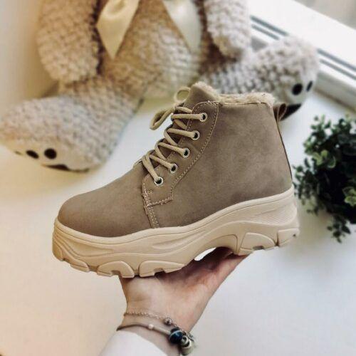 Зимние женские ботинки кроссовки Megger