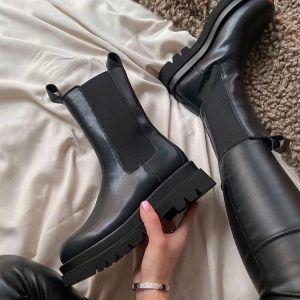 Ботинки Челси с мехом в стиле Ботега