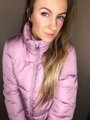 Женская дутая куртка розовая