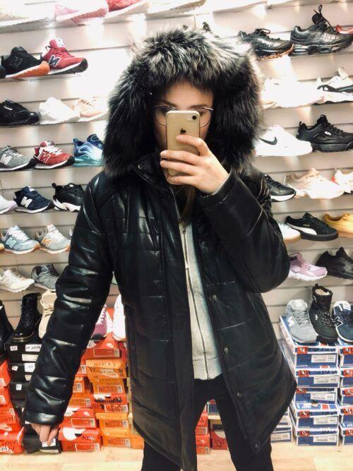 Зимняя мужская куртка кожанаяimg 20191102 wa0003