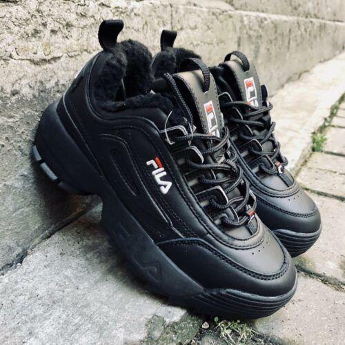 Зимние кроссовки Фила черные