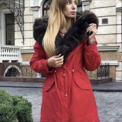 Парка женская Спб красная