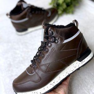 Зимние мужские коричневые ботинки Reebok