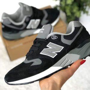 Кроссовки мужские Нью Баланс 999 черные с серым