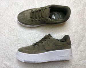 Кеды Nike WMNS AIR FORCE 1 SAGE LOW хаки