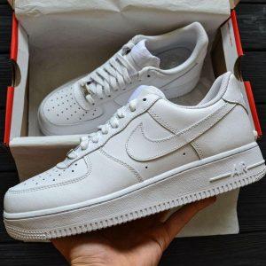 Кроссовки Nike Air Force белые мужские и женские