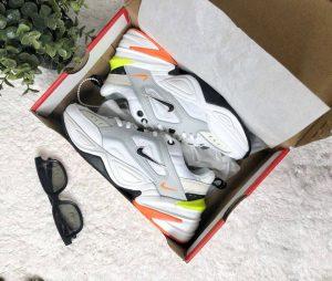 Кроссовки Nike M2K Tekno белые с желтым