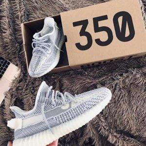 Кроссовки Adidas Yeezy boots белые рефлективные