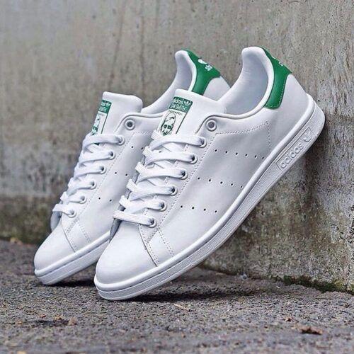 Кроссовки Стен Смит белые с зеленым