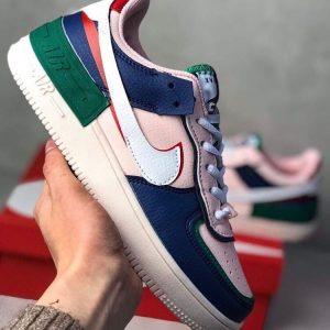 Кеды Nike Air Force Shadow синие с розовым