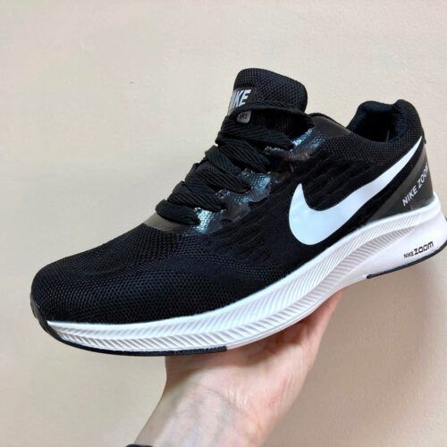 Кроссовки Найк Зум Nike Zoom черные c белым