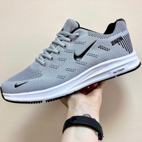 Кроссовки Nike Zoom летние светло-серые мужские