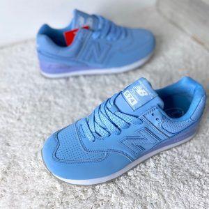 Кроссовки New Balance 574 голубые кожаные