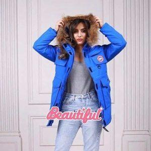 Женская зимняя куртка Canada Goose синяя