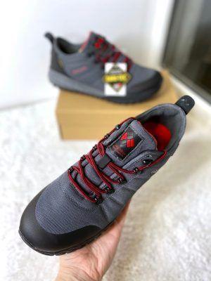 Кроссовки утепленные Columbia серые с красным