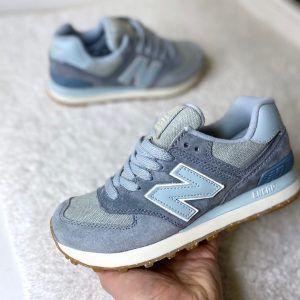 Кроссовки NB 574 женские небесно-голубые