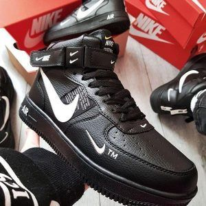 Зимние кеды Nike Air Force 1 '07 LV8 Utility черные