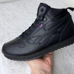 Зимние мужские кроссовки Reebok черные высокие Nero