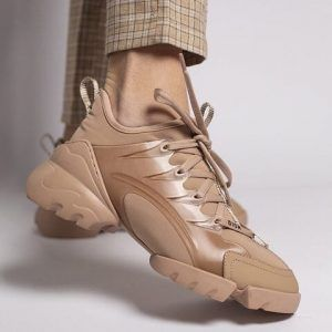 Кеды Dior кожаные бежевые