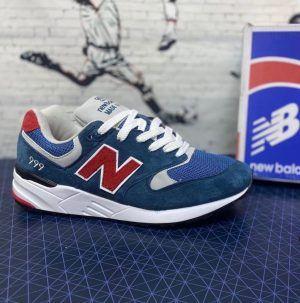 Кроссовки New Balance 999 синие с красным