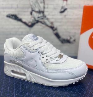 Кроссовки Nike Air Max  белые с сеткой