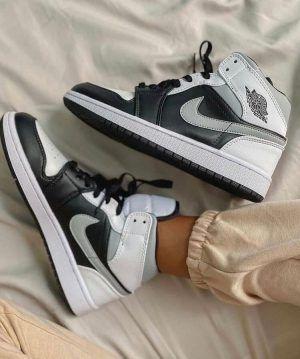 Кроссовки Nike Air Jordan 1 Mid Grey Black