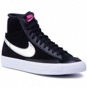 Черные кеды Nike с мехом