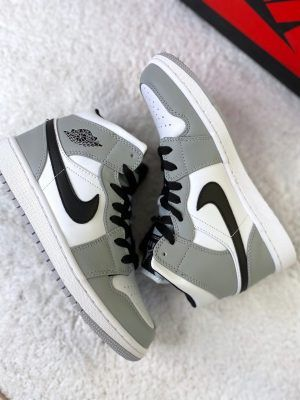 Кроссовки Nike Air Jordan 1 Mid Grey White