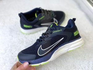 Кроссовки Nike Zoom синие с салатовым