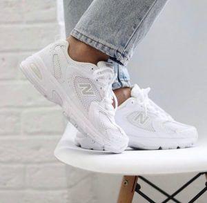 Кроссовки женские белые New Balance 530 белые
