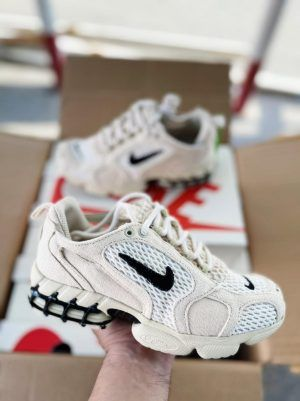 Кроссовки Nike Spiridon Stussy белые мужские и женские