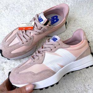 Кроссовки женские New Balance 327 розовые