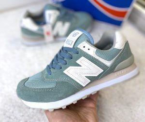 Кроссовки NB 574 женские голубые Ирис