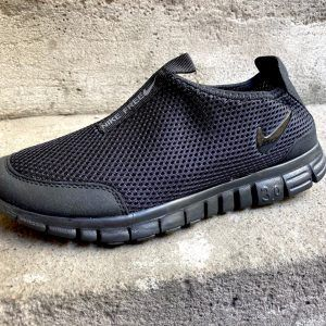 Кроссовки Nike Free Run черные без шнурков
