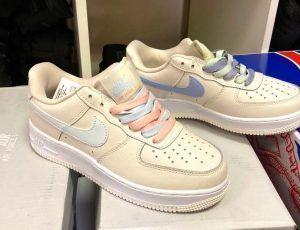 Кроссовки Nike Air Force 1 beige цветные