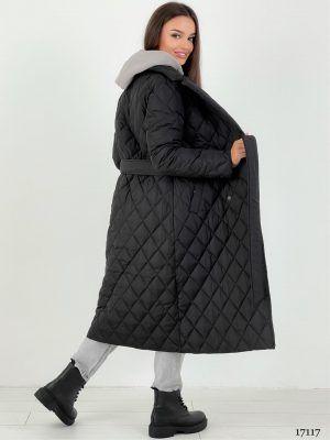 Пальто стеганое демисезонное черное