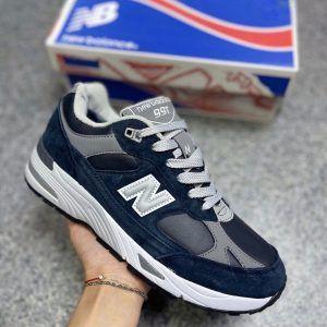 Кроссовки Нью Баланс 991 синие с мехом